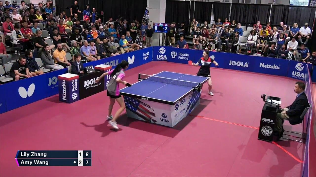 2019 Us National Table Tennis Championships Womens Sf Lily Zhang Vs Table Tennis Tennis Championships Tennis