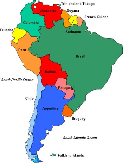 South America Map Spanish Speaking Countries nuschool south american justified | SOUTH AND CENTRAL AMERICA