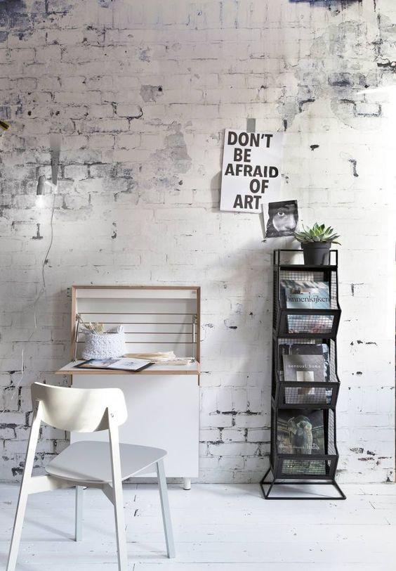 modern und minimalistisch mit der richtigen Backstein Tapete ...
