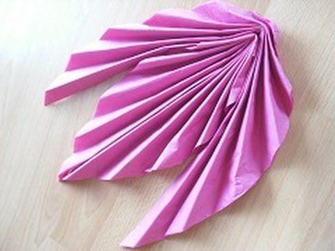 Servietten falten: Blütenfächer für Ostern We&s