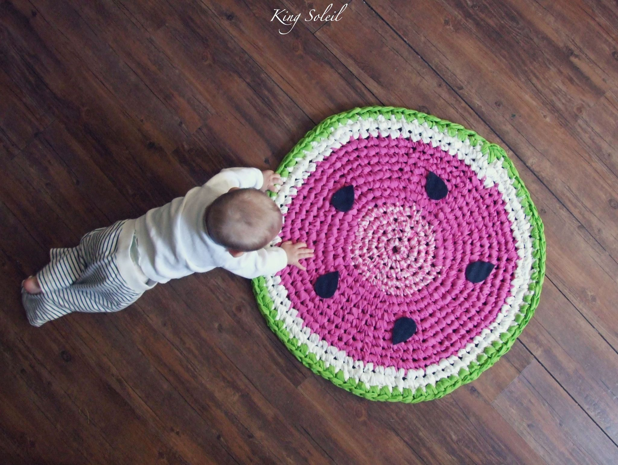 Crochet Watermelon Rug This Hand