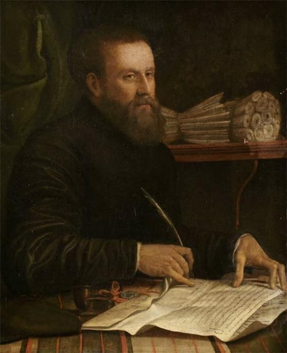Conte, Jacopino del b,c,1510)- Man Writing w Quill