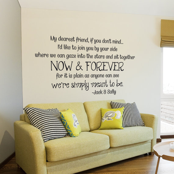 Sally And Jack Wall Decal Inspirational Quotes Love Vinyl Decal Glamorous Nightmare Before Christmas Bedroom Decor Inspiration