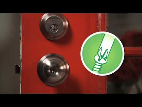 How To Install A Schlage Deadbolt Lock On Door By Schlage Schlage Locks Available At Http Buymbs Com Schlage Deadbolt Installation