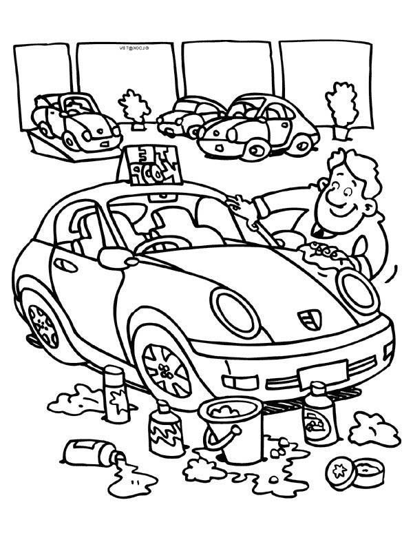 car wash coloring pages