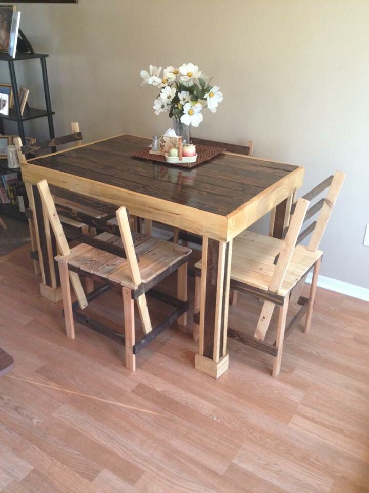 Kitchen table and chairs together!