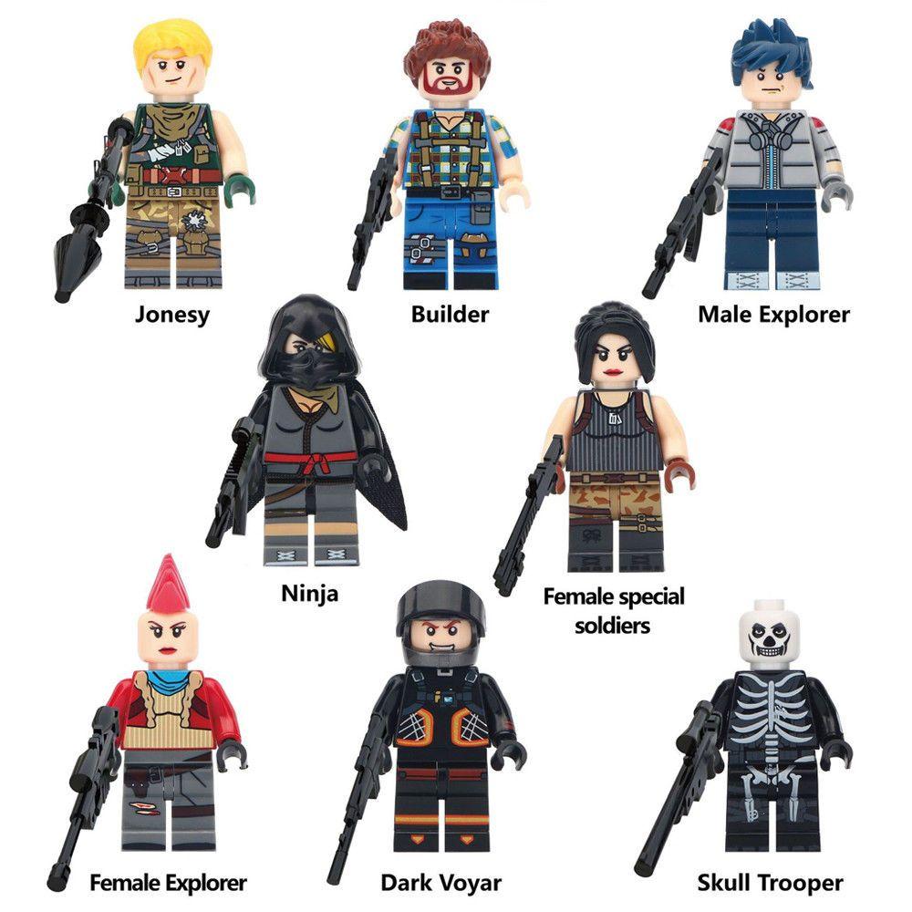 8pcs Fortnite Battle Royale Building Blocks Figures Game Collection