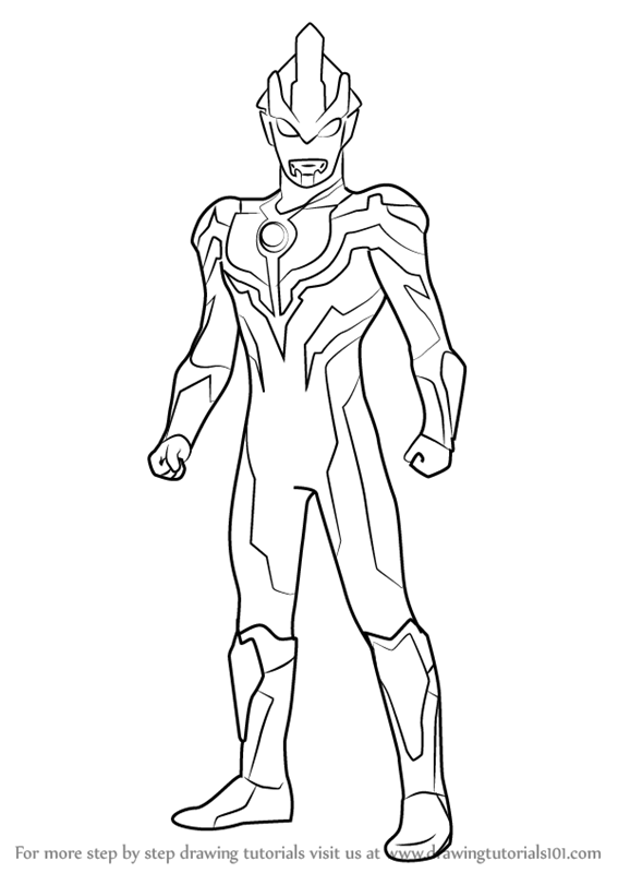 Learn How To Draw Ultraman Ginga Ultraman Step By Step Drawing Tutorials Coloring Pages Coloring Books Color