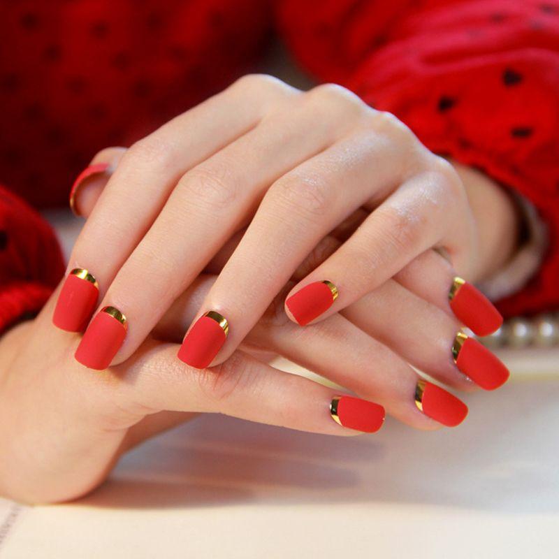 awesome Необычный красный френч на ногтях (50 фото) — Новинки ...