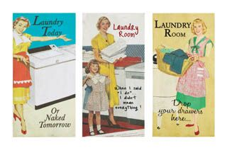 vintage laundry room signs