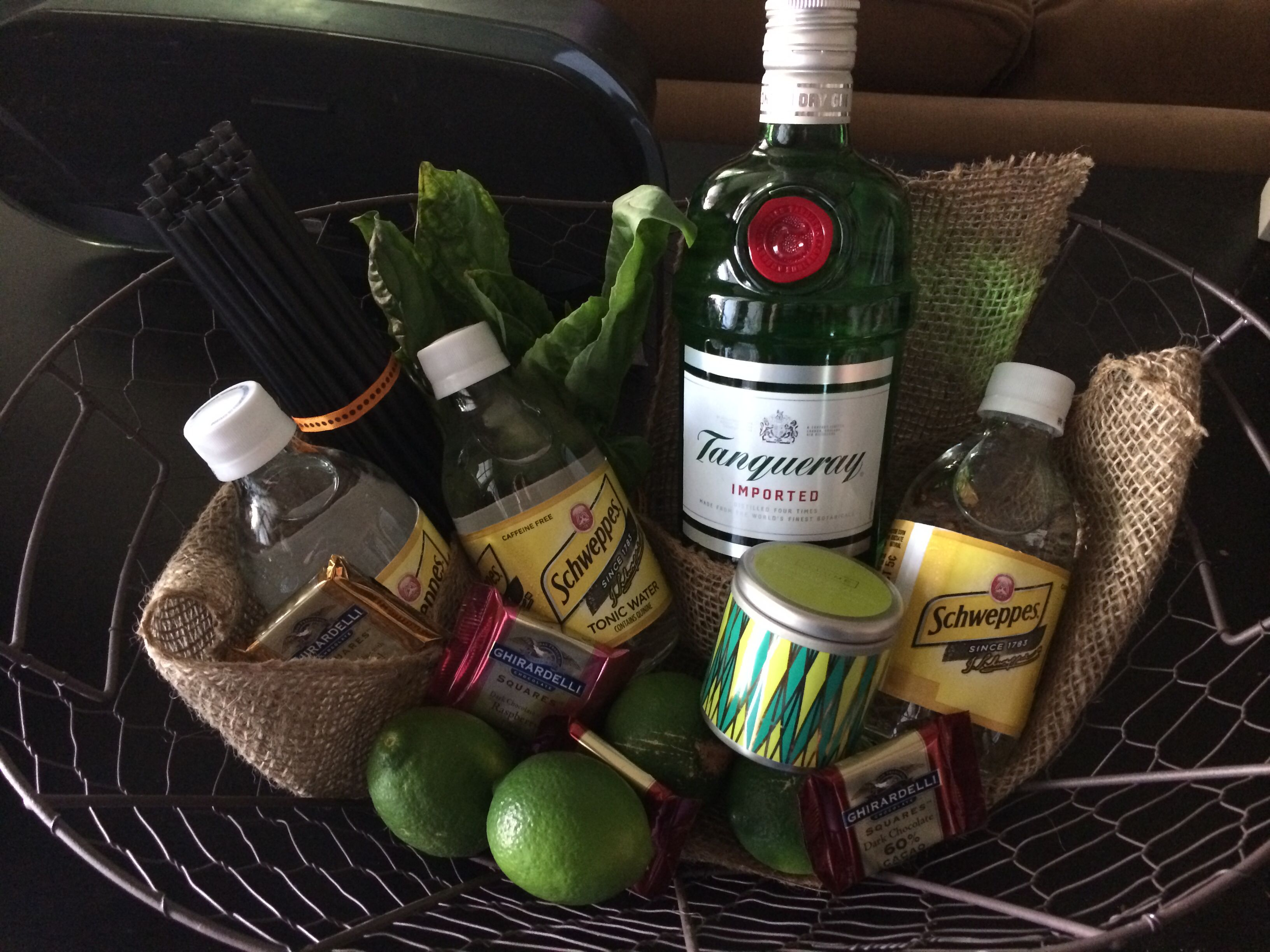 Gin Tonic Gift Basket Great Thank You