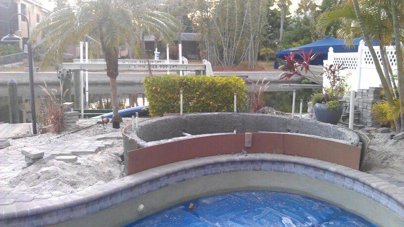 Adding A Spa On Existing Pool Spa Hot Tub Pool