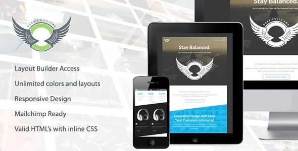Balance Responsive Email Template With Builder Pinterest - Build responsive email template