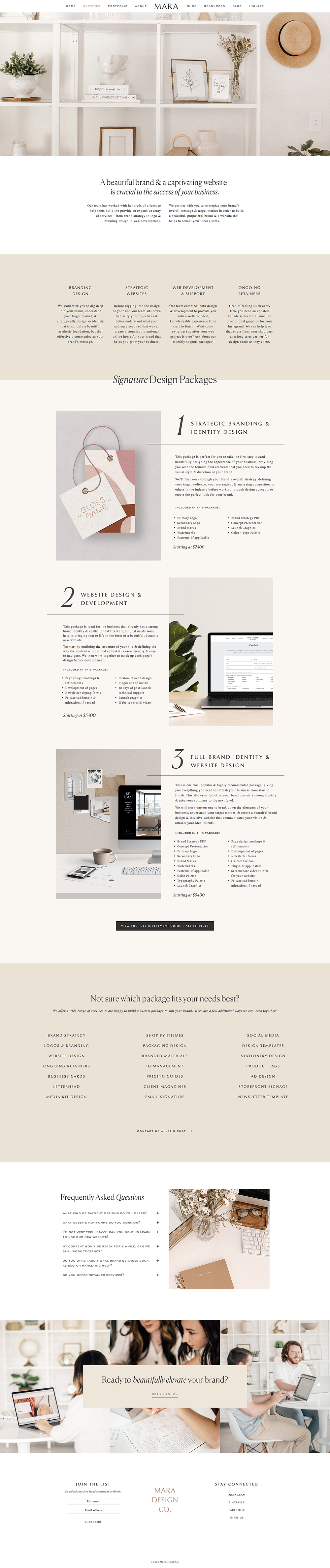 Chic Classic Information Page For Service Based Business Branding Website Design For In 2020 Branding Website Design Small Business Web Design Squarespace Design