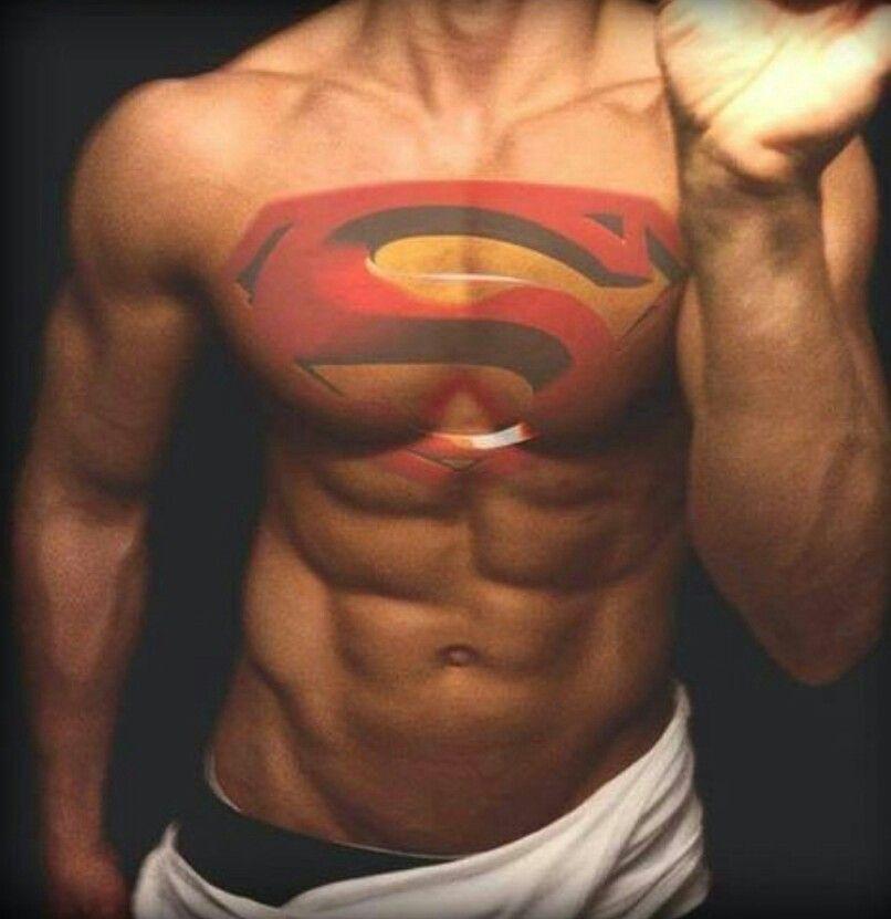 Superman Tattoo Simbolo Batman Tatoo Masculino
