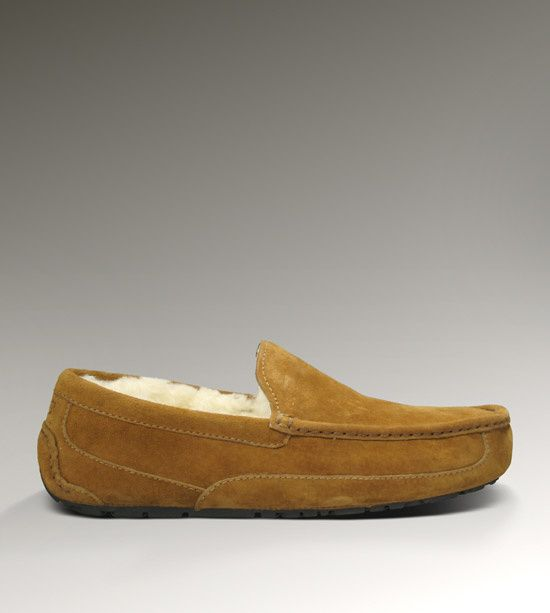 UGG Mens Ascot Suede Slippers 5775 Chestnut
