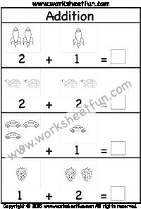 Addition 1 Digit Free Printable Worksheets Kindergarten Math Worksheets Free Kindergarten Math Worksheets Addition Preschool Math Worksheets