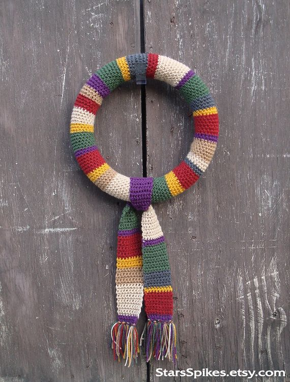 Tom Baker 4th Doctor Who Scarf Wreath   Patrones