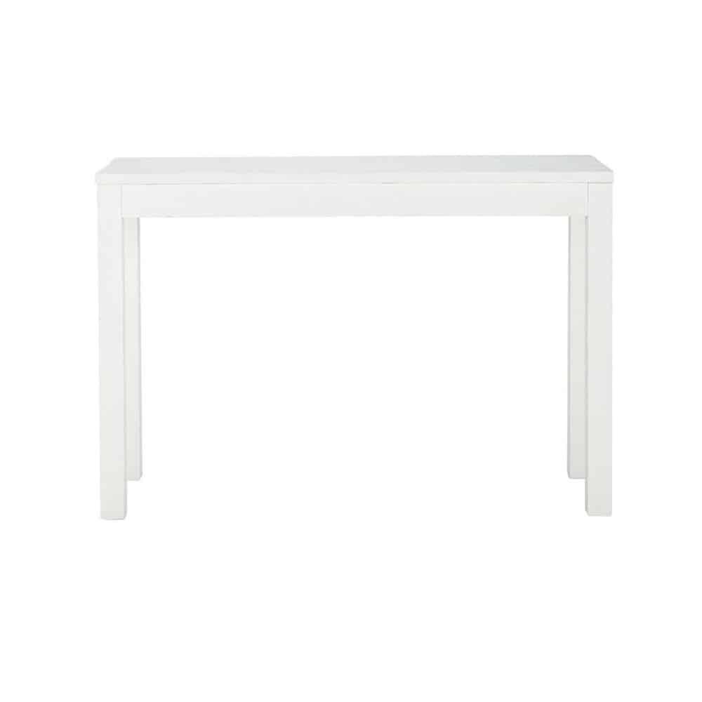 Consola de madera maciza blanca 120 cm de largo | Maisons du Monde ...