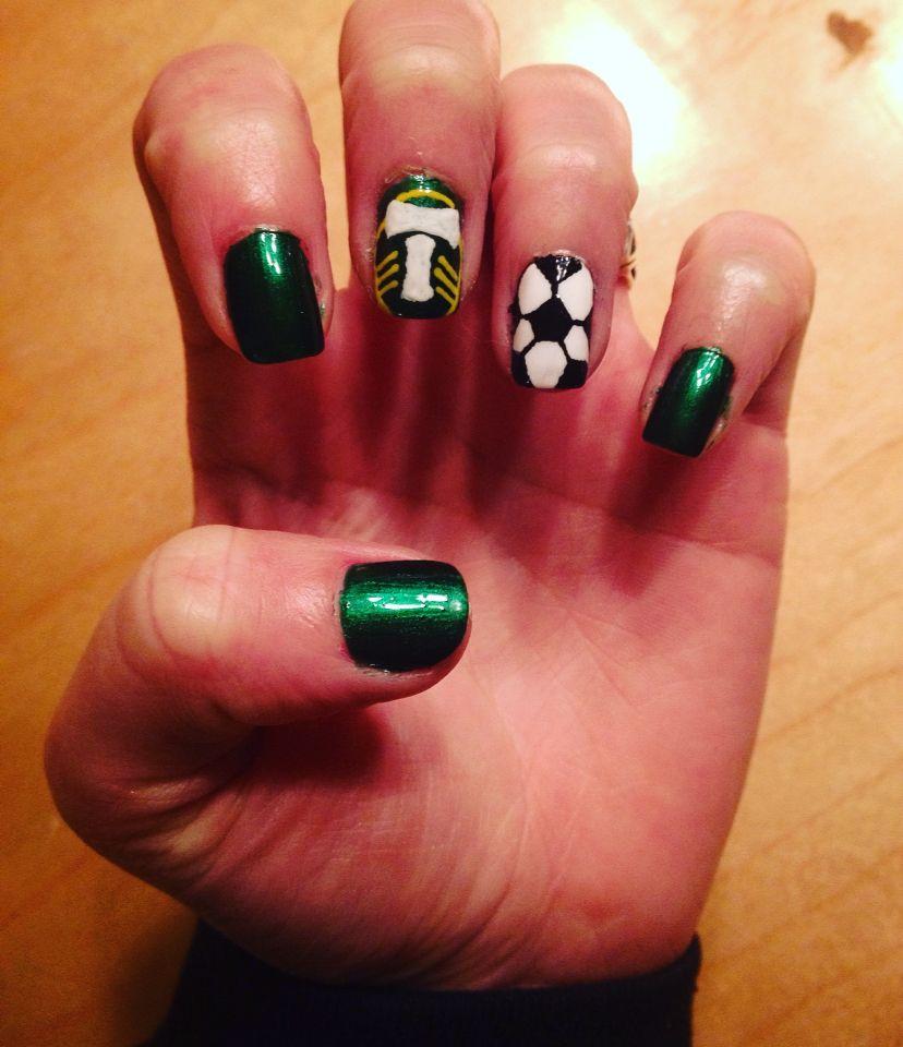 Portland Timbers nails! Did them myself | Nail Art✨ | Pinterest ...