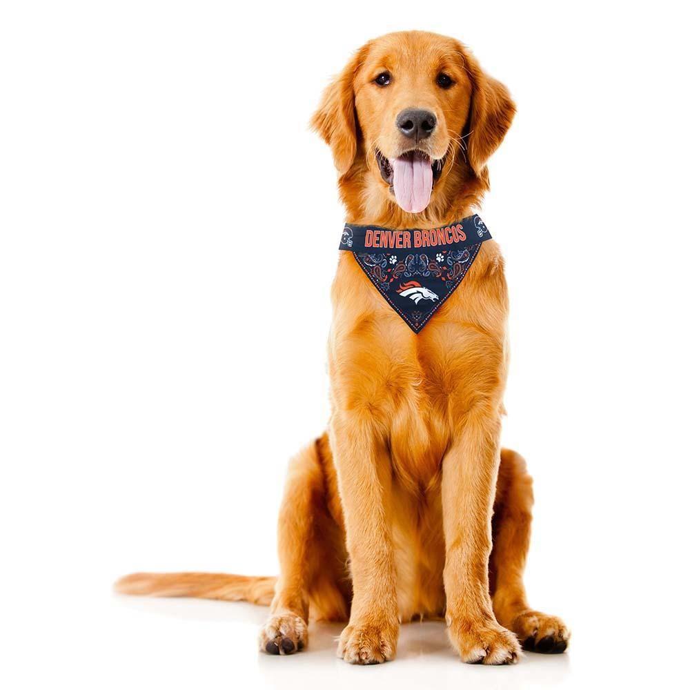 Denver Broncos NFL Reversible Bandanna Dog Neck Tie Dog