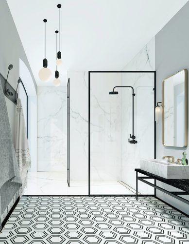 Modern monochrome bathroom designs for showering in style