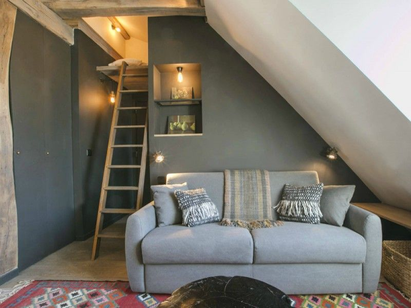 My ideal home — super cosy attic in Paris (via Una piccola...