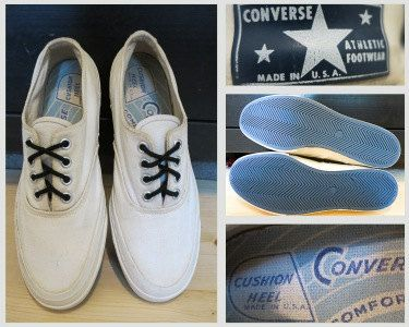 e9632501de5b41 ... 6 Womens Chuck Taylor- Blue label-made in usa. Vintage 1950s 60s  Converse Canvas Sneakers Made in the USA size 8 by schippervintage  available on Etsy!