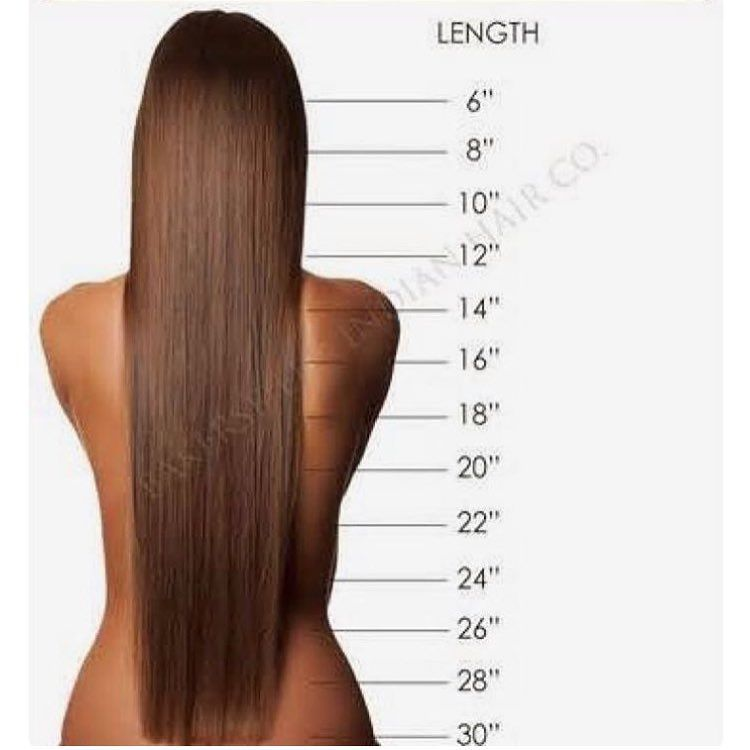 Sometimes  get orders and clients aren   so sure what length they would like also inch ash brown clip in hair extensions  rh pinterest