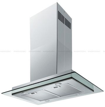 Spagna Vetro 36 Sv198e I36 Island Mounted Stainless Steel Glass Range Hood Modern Kitchen Hoods And Vents Glass Range Hood Range Hood Modern Kitchen Hood