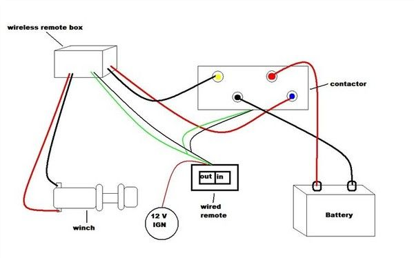 mile marker winch wiring diagram  reverse light wiring