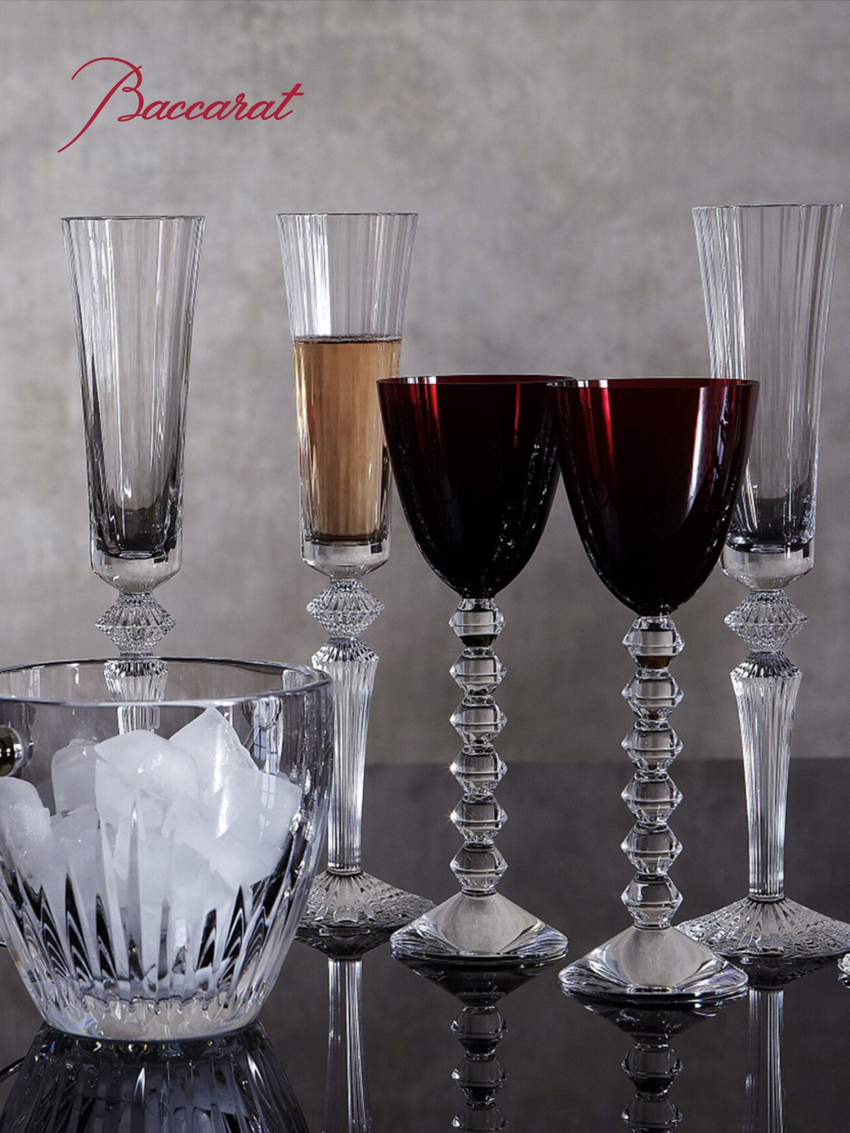 Mille Nuits Baccarat Champagnerflote Champagne Glass Design