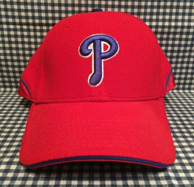 Philadelphia Phillies New Era MLB Flex Fit Batting Practice Hat Sz  Medium Large  124bc77f4b5