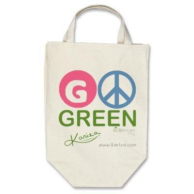 Go Green Kariza Think Green Eco Bag Green Tote Green Tote Bag Bags