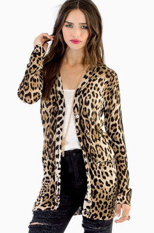 c906816aa33 Wild Woman Cardigan  44 at www.tobi.com Leopard Cardigan