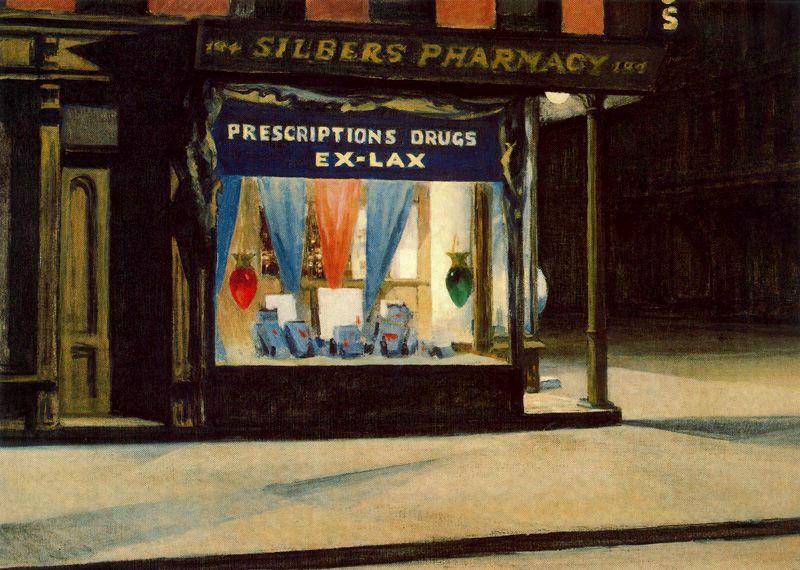 Edward Hopper Drug Store http://all-art.org/art_20th_century/hopper1.html