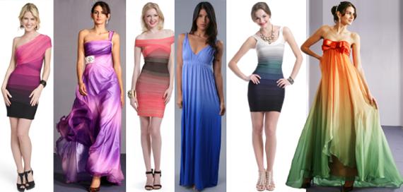 Платье цветом градиент