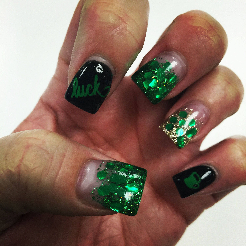 St. Patrick\'s Day Nails   My Nails   Pinterest