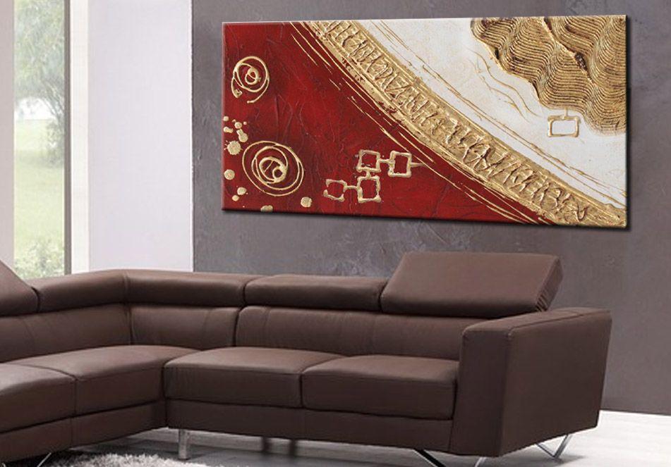 Gallery of quadro astratto moderno dipinto a mano su tela spatolata ...