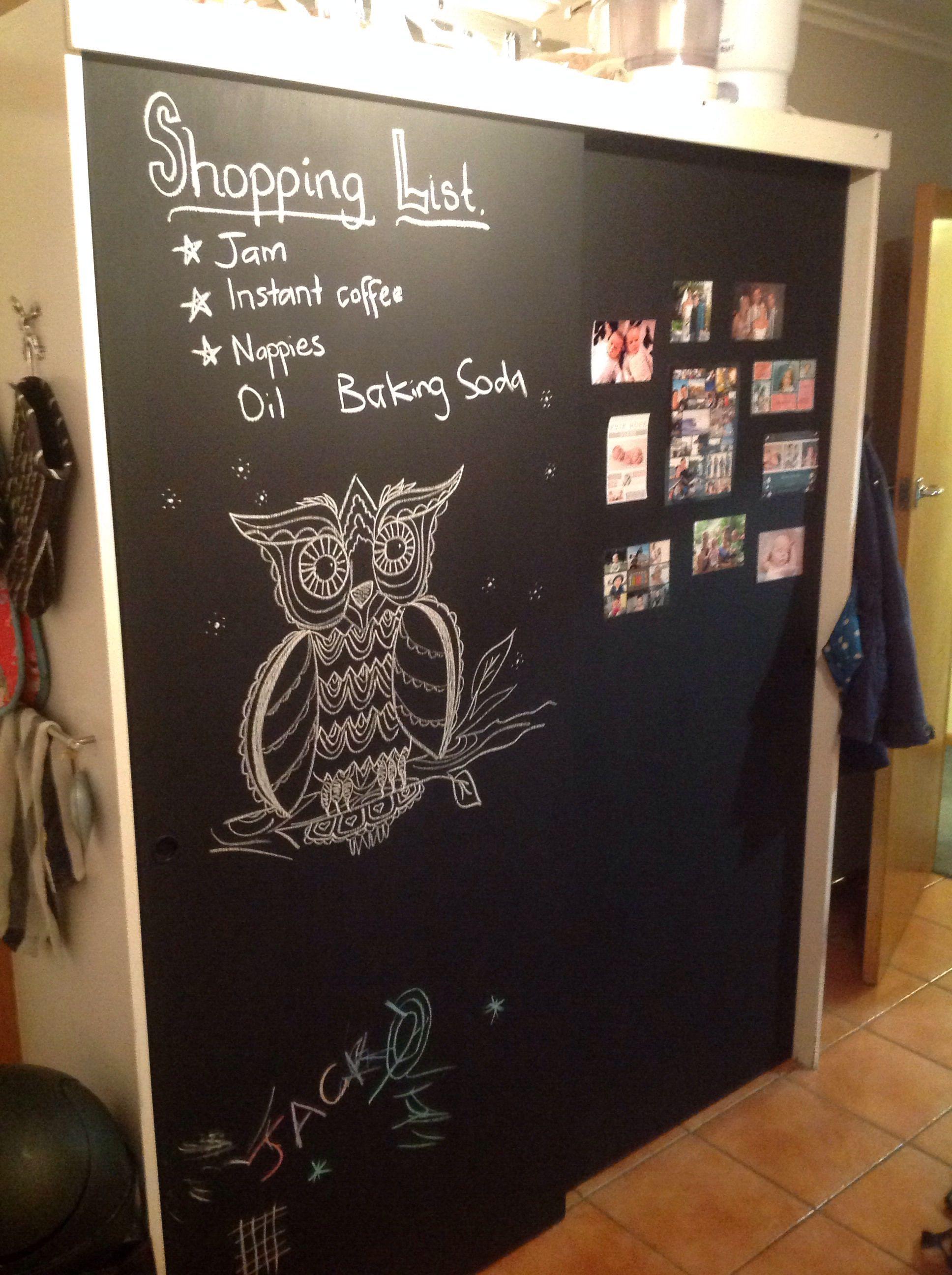 Blackboard doors