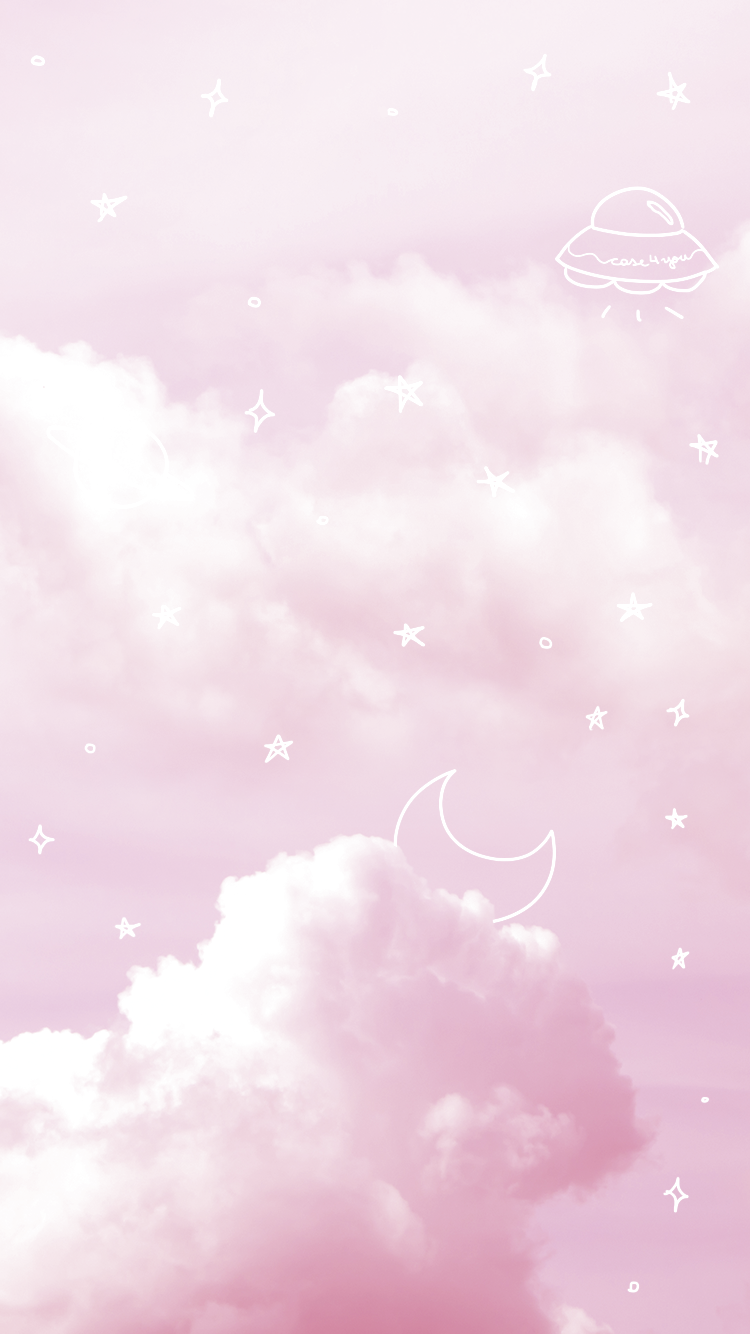 Wallpaper Pink Sky By Case4you Pink Sky Pinksky Space Aesthetic Pastel Stars Moon Pink Wallpaper Iphone Pink Sky Pink Wallpaper Backgrounds