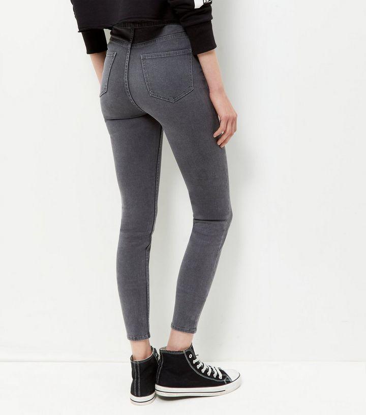 cff574383a Dark Grey High Waist Super Skinny Hallie Jeans in 2019 | cool ...