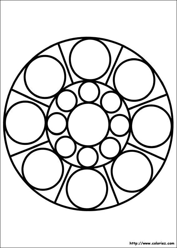 Coloriage Mandala Ronds Graphisme Coloriage Mandala