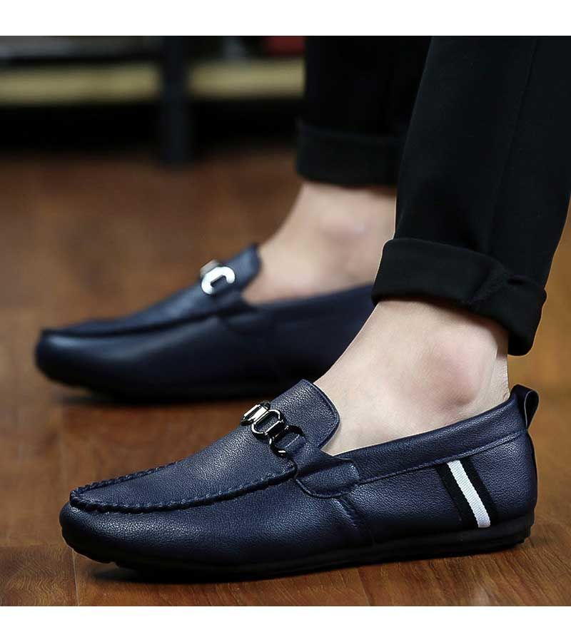 Men's Slip on Breathable Leisure Loafers with Buckle