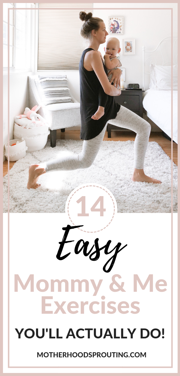 Try out these 14 easy mommy and me exercises you'll actually want to do. If you're looking for a simple workout routine you can do at home with your child, this is the plan for you. out these 14 easy mommy and me exercises you'll actually want to do. If you're looking for a simple workout routine you can do at home with your child, this is the plan for you.