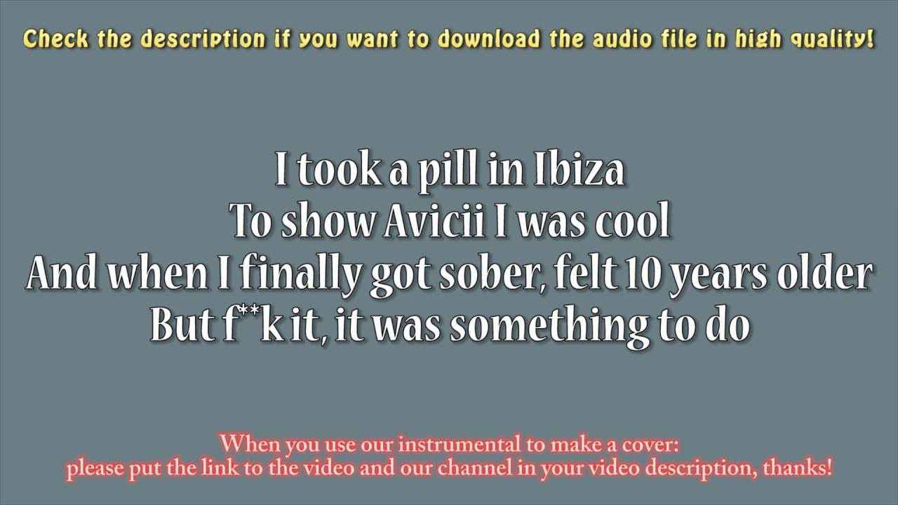 Mike Posner I Took A Pill In Ibiza Guitar Instrumental Karaoke
