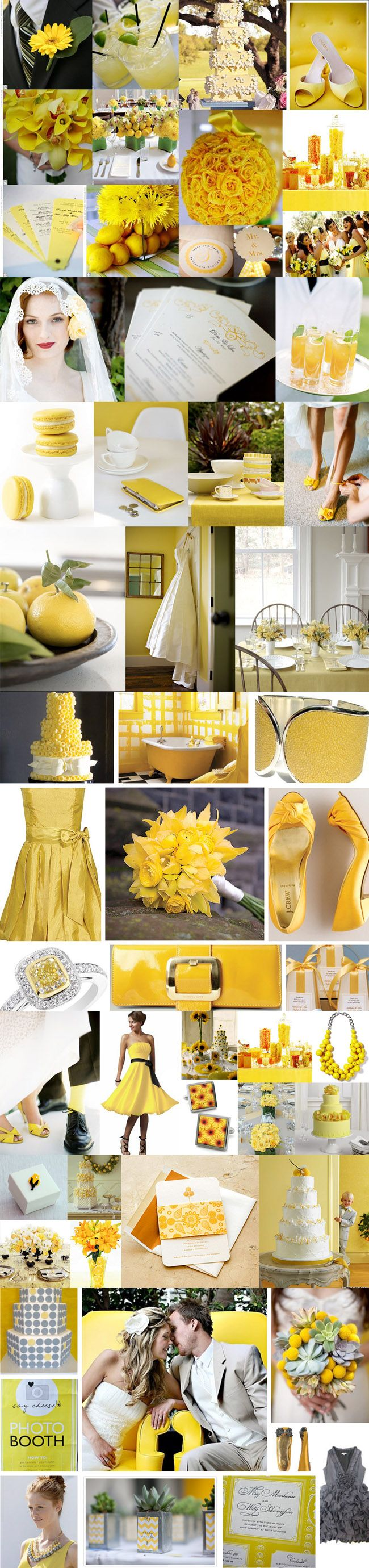 Wedding decorations yellow and gray  wedding inspiration yellow  Two down one to go  Pinterest