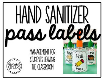 Hand Sanitizer Pass Labels Management For Students Leaving The