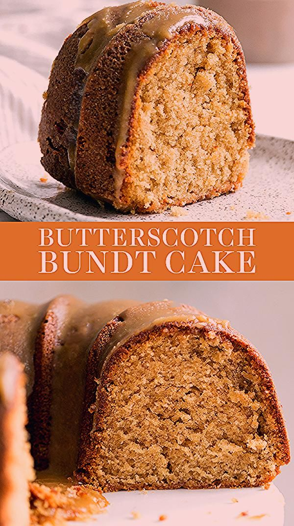Butterscotch Bundt Cake features a homemade brown sugar sour cream cake drizzled with an easy from-scratch thick butterscotch icing! This recipe is the best fall dessert idea for a crowd! You'll love this recipe. #bundtcake #butterscotch #falldessert #fallrecipes
