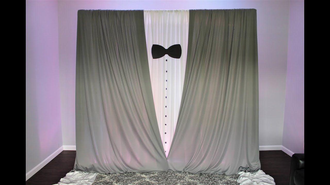 Tuxedo Backdrop Diy How To Prom Decor Photo Backdrop Birthday Elegant Birthday Party